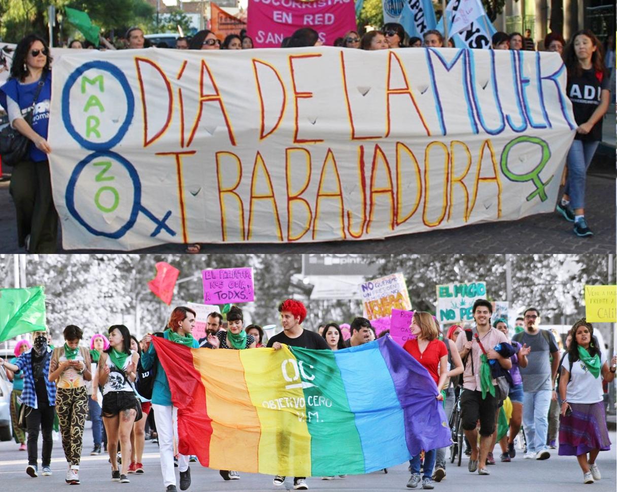 Marcha 8 día de la mujer luchadora