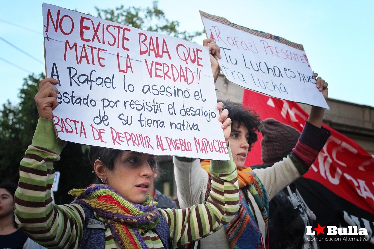 Mapuche Marcha contra la represión San Luis