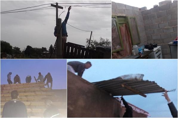 Vecinxs del Barrio República golpedxs por el temporal