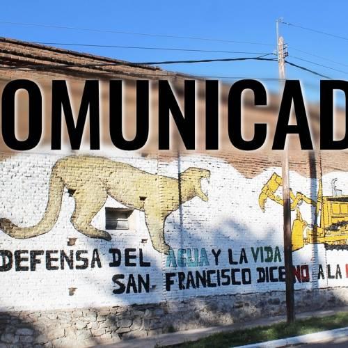 """Comunicado de la """"Asamblea de Vecinos Autoconvocados de San Francisco del Monte de Oro"""""""